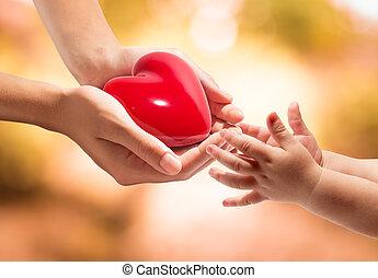 Leben in deinen Händen - Herz.