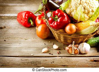 lebensmittel, gesunde, organische , vegetables., bio