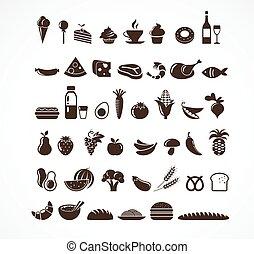 Lebensmittel-Ikonen und -elemente