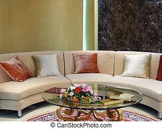 lebensunterhalt, modern, luxus, zimmer