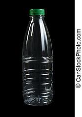 leerer , durchsichtig, flasche, plastik