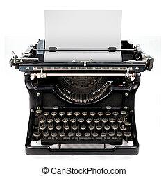 Leeres Blatt in einer Schreibmaschine.