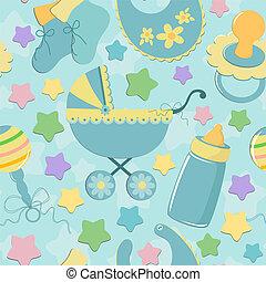 Leichter Hintergrund mit Babyobjekten