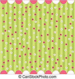 Leichtes Blumenmuster, Babykarte