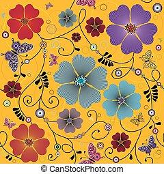 Leichtes gelbes Blumenmuster