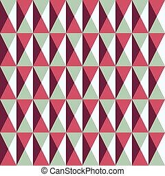 Leichtes Muster mit Quadraten und Dreiecken