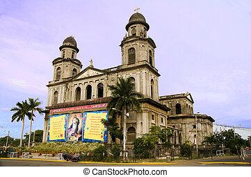 Leitende alte Kathedrale Managua Kathedrale Santo Domingo