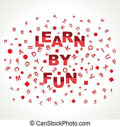 Lerne mit lustigem Wort in Alphabet