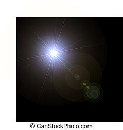 Leuchtfackel-Specialwirkung. Vektor Illustration.