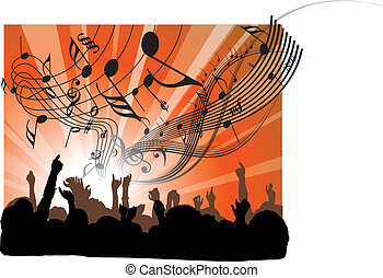 Leute beim Konzert