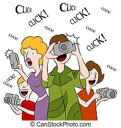 Leute, die fotografieren.
