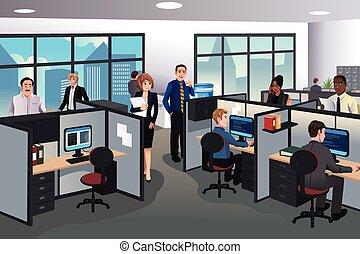 Leute, die im Büro arbeiten.