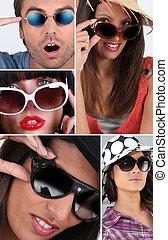 Leute mit Sonnenbrille