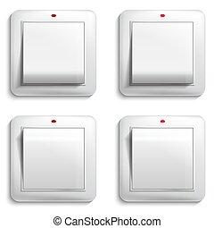 licht, abbildung, vektor, switch.