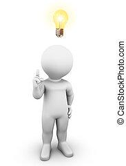 licht, idee, zwiebel