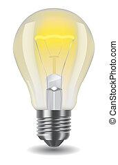 licht, klassisch, glänzend, zwiebel