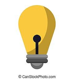 licht, lampe, idee, zwiebel, karikatur