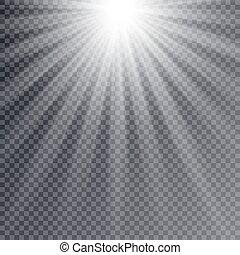 licht, leuchtsignal, effekt, besondere, light., strahlen