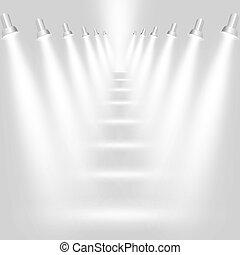 Lichtgrauen Hintergrund mit Scheinwerfern deaktivieren