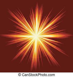 Lichtstoß, Feuerwerk, Linseneruption