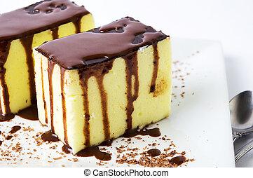 lieb, creme, ei, torte, kakau