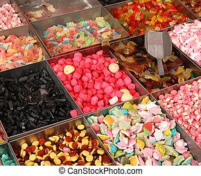 lieb, markt, konfekt, verkauf, zuckerl