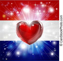 Liebe, Netherlands Flaggherz, Backgro