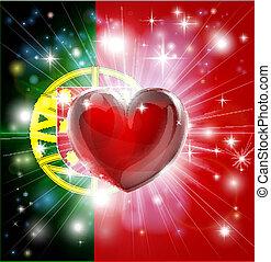 Liebe portugalfarbene Vorgeschichte