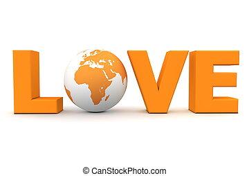 Liebe Welt orange