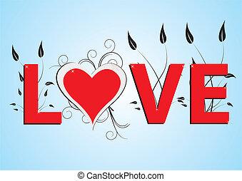 Liebes-Hintergrundvektorin