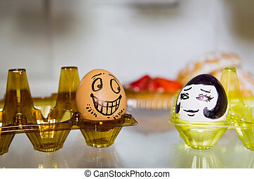 liebhaber, zwei, eier
