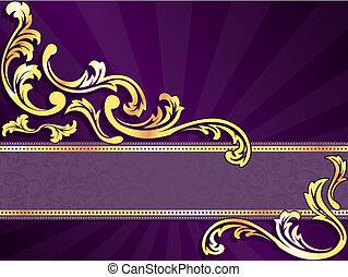 Lila und gold horizontales Banner