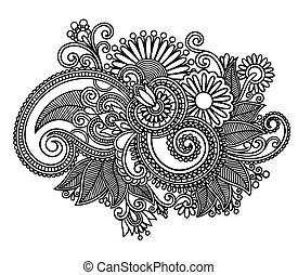 Linienkunst-Blumendesign