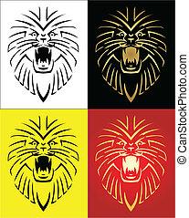 Lion Mascot Vektor Illustration