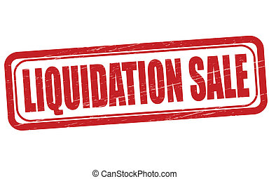 Liquidationsverkauf.
