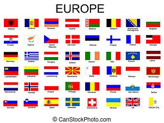 Liste aller europäischen Flaggen