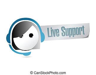 Live Support Illustration