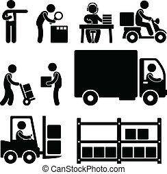 Logistische Lagerhaus-Lieferung