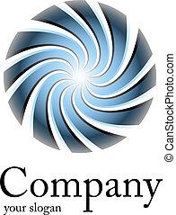 Logo blaue Spirale.