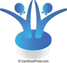 logo, geschäft mannschaft