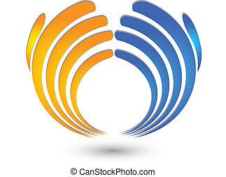 logo, geschäft reicht