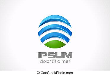 Logo-Kreis abstrakt. Global, Medien, Technologie-Ikone.