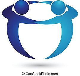 logo, mannschaft, leute geschäft