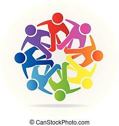 Logo-Team-Freundschaft Menschen