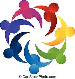 Logo Teamwork Konzept des Business