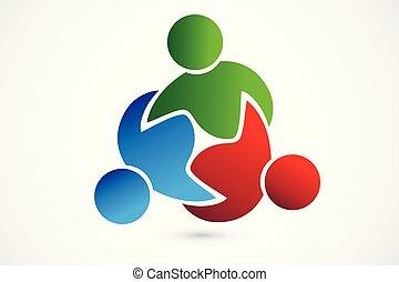 Logo-Teamwork-Prozess-Leute