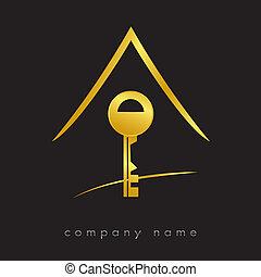 Logotypischer Schlüssel für Immobilien