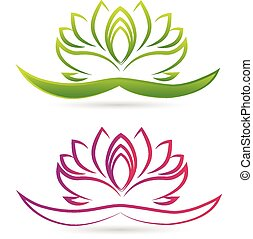 Lotus-Blumen-Logo-Vektor.