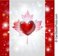 Love Canada Flag herz Hintergrund.