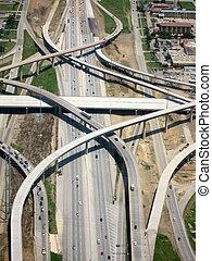 Luftaufnahme vom Highway